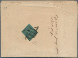 Italien - Altitalienische Staaten: Romagna: 1859, 3 Baj. Deep Green, Wide Margins, Tied By Mute Papa - Romagne