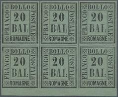 Italien - Altitalienische Staaten: Romagna: 1859, Numerals 20 Baj. In A Block Of Six With MINT NEVER - Romagne