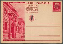 "Italien - Ganzsachen: 1944, Repubblica Sociale, Not Issued 75c.+75c. Double Card ""Opere Del Regime - - 1861-78 Vittorio Emanuele II"