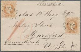 """Kreta: 1875, Österreich 15 Kr. Gelbbraun, Grober Druck, Zwei Werte Auf Brief Von """"CANEA 21.DIC."""" Nac - Kreta"""