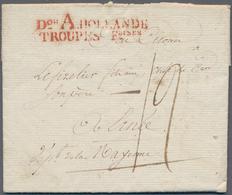 """Frankreich - Militärpost / Feldpost - Niederlande: 1806, Red Two Line """"Dos. A HOLLANDE / TROUPES FCS - Österreich"""