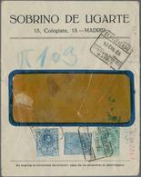 Spanien - Ganzsachen: 1924. Private Window Cover 25c Blau Alfonso XIII Medallón Inscripted On The Fr - Interi Postali