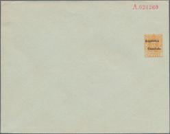 """Spanien - Ganzsachen: Ca. 1931, 50 C. Privat-Ganzsachenumschlag Mit Aufdruck """"Republica Espanola"""", M - Interi Postali"""