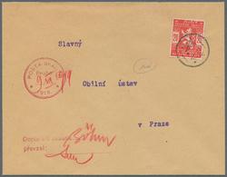 """Tschechische Republik: 1918, Brief Mit 20 H SCAUTEN / Pfadfinder-Ausgabe In Karminrot Mit K2 """"N.V."""" - Czech Republic"""