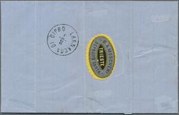 "Zypern - Stempel: 1876, ""LANARCA DI CIRO 8/3"", Clear Strike Of C.d.s. As Arrival Mark On Reverse Of - Zypern"