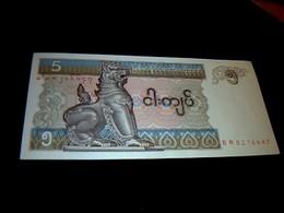 Myanmar Billet De Banque Ayant Circulé De 5 Kyats état TB - Myanmar
