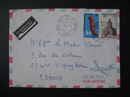 """Lettre Congo """" Courrier Des Marins """"  1975  Pour La France Cachet Pointe Noire - Oblitérés"""
