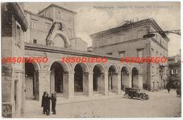 MONTEGIORGIO - PORTICI DI PIAZZA VITT. EMANUELE II  F/PICCOLO VIAGGIATA ANIMATA - Ascoli Piceno