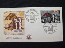 BELG.1970 1555 FDC (Brugge) :25e Verjaardag Maatschappelijke Zekerheid-MC-- 25 Ans De La Sécurité Sociale En Belgique - 1961-70
