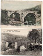LA SALVETAT - 2 CPA - Pont Sur L' Agout - Vallée De La Vèbre, Route De Lacaune     (929 ASO) - La Salvetat