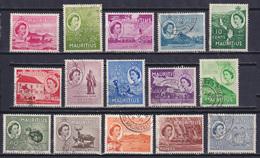 MAURITIUS 1953, SG# 293-306, CV £21, Architecture, Birds, Animals, Used - Mauritius (...-1967)