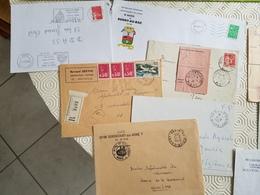 GUIGNICOURT - Belle Collection D'oblitérations Dont Recommandé, Franchise, Enveloppes Entêtes Mairies - Poststempel (Briefe)
