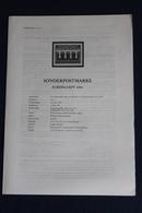 EUROPA - CEPT 1984; 4.5.1984; Legende; Erläuterungsblatt - Autres