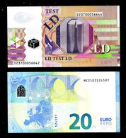POLYMER Test Note LD 20 Euro, UNC, ECB Trial, Essai, T001I5, Ser. # I-G, Belgien - EURO