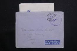 """FRANCE - Enveloppe En FM Pour Paris En 1951 Avec Contenu ( De """" La Digitale"""" à Saïgon ) - L 60741 - Seepost"""