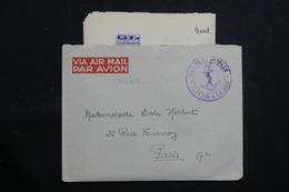 """FRANCE - Enveloppe En FM Pour Paris En 1950 Avec Contenu ( De """" La Digitale"""" à Saïgon ) - L 60742 - Marcophilie (Lettres)"""