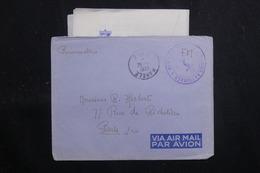 """FRANCE - Enveloppe En FM Pour Paris En 1951 Avec Contenu ( De """" La Digitale"""" à Saïgon ) - L 60743 - Marcophilie (Lettres)"""