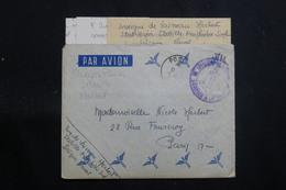 """FRANCE - Enveloppe En FM Pour Paris En 1947 Avec Contenu ( De """" La Boudeuse """" à Haïphong ) - L 60745 - Marcophilie (Lettres)"""