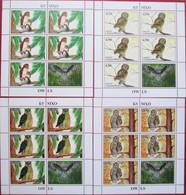 Tajikistan  2019  Owls  4 M/S   Perforated   MNH - Tajikistan