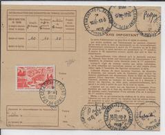 1950 - POSTE AERIENNE YT 27 SEUL Sur CARTE ABONNEMENT De CLERMONT-FERRAND ! - Poste Aérienne