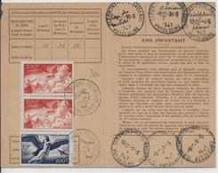 1949 - POSTE AERIENNE YT 18+19X2 Sur CARTE ABONNEMENT De CLERMONT-FERRAND ! - Poste Aérienne