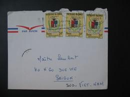 Lettre Congo 1968  Pour Le Viêt-Nam  Saigon Sud  Cachet Brazzaville TP Armoiries - Oblitérés