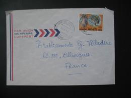 Lettre Congo 1982  Pour La France  Cachet Pointe-Noire  TP  Arbres De Brazza Moukondo - Loubome - Oblitérés