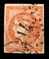 France Bordeaux YT N° 48 Oblitéré. Belle Qualité Sans Défaut. A Saisir! - 1870 Bordeaux Printing