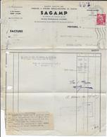 1945 - GANDON 1F50 SEUL Sur FACTURE De POITIERS (VIENNE) => MAGNAC-LAVAL - 1921-1960: Modern Tijdperk