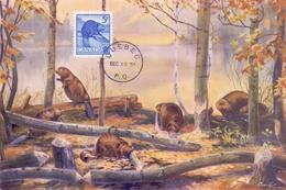 CANADA   POST CARD MAXIMUM QUEBEQ 1954  (MAGG20195) - Maximumkaarten