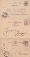 Wuerttemberg / 3 Postkarten Gestempelt, Brief Mit Neujahrswuenschen Und Postschein Ortsdruck Neuenbuerg (BF26-20) - Deutschland