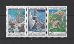 ANDORRE.  YT    N° 493/495  Neuf **  1997 - French Andorra