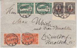 DR-Infla - 2 1/2 M. Abschied Paar/UR U.a. Brief Chemnitz - Düsseldorf 9.10.22 - Deutschland
