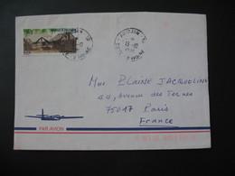 Lettre  Côte D'Ivoire 1986  Pour La France  Cachet Abidjan  TP  Habitat Avikam-Eva - Ivory Coast (1960-...)