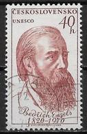 Czechoslovakia 1970. Scott #1669 (U) Friedrich Engels (1820-95), German Socialist - Usati