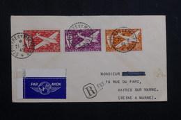 SAINT PIERRE ET MIQUELON - Enveloppe En Recommandé Pour La France En 1945 , Affranchissement Plaisant - L 60752 - St.Pierre & Miquelon