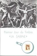 SABINE De GANDON, Livret Spécial Pour La 1ère émission De Décembre 1977 + Marcophilie De LILLE - 1977-81 Sabine De Gandon
