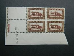 Maroc Yvert 134 Coin Daté 20.12.38 - Ungebraucht