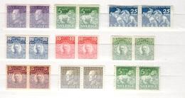 Suède Neuf Paires Neufs ** MNH 1910/1936. Bonnes Valeurs. TB. A Saisir! - Neufs