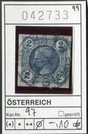 Austria - Autriche - Oostenrijk - Österreich - Michel 97 - Oo Oblit. Used Gebruikt - - Used Stamps