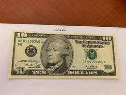 United States Hamilton $10 Uncirc. Banknote 2001 #3 - Nationale Valuta