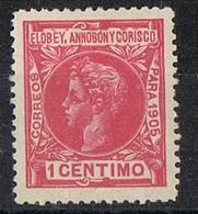 Sello 1 Cts 1905, ELOBEY, Annobon Y Corisco, Colonia Española, Num 19 * - Elobey, Annobon & Corisco