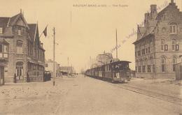 Nieuwpoort - Nieuport-Bains En 1923 - Voie Auguste - Stoomtram - Tram à Vapeur - Uitg. Hôtel-Café Léopold Pylyser - Nieuwpoort