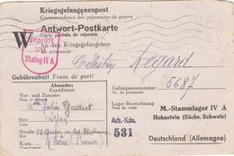 CPFM SPECIFIQUE CAMP PRISONNIERS 1944 STALAG IVA = LOCALISE SUR CPFM HOHNSTEIN (SÄCHS SCHWEIZ)  DRESDE - 1921-1960: Période Moderne