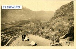 CPA  -  GRENOBLE - TERRASSE DU TELEPHERIQUE - VALLEE DE DRAC ET DE L'ISERE (IMPECCABLE) - Grenoble