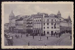 Postal Antigo BRAGA - Largo Do Barão De S.Martinho. Animado / Lojas / Carros. Edição Luvaria Monteiro PORTUGAL - Braga