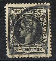 Sello 3 Cts 1905, ELOBEY, Annobon Y Corisco, Colonia Española, Num 21 º - Elobey, Annobon & Corisco