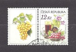 Czech Republic 2006 ⊙ Mi 462 Zf Sc 3296 Still Life With Grape, Glass Of Red Wine And Flowers.Tschechische Republik. C2 - Czech Republic
