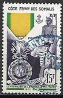 COTE DES SOMALIS  -  1952 . Y&T N° 284 Oblitéré.  Médaille Militaire. - Usati