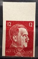DR 1941, 12 Pf Mi 588, Ungezähnt DOPPELDRUCK, MNH Postfrisch - Errors And Oddities